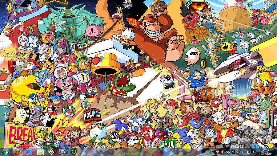 Retro Game Characters by ~Kensirou