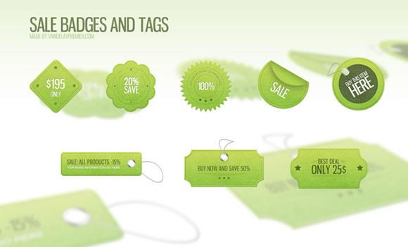 WDL Premium: Sale Badges and Tags PSD | Premium