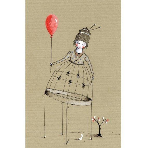 The story of the sleeping red balloon by LilyMoon on Etsy