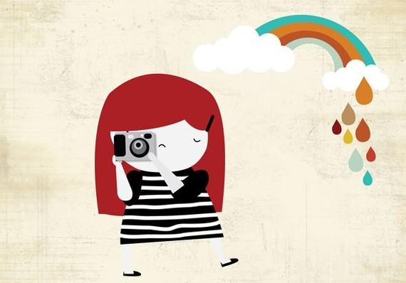 Taking photos with rain or sun by yaelfran on Etsy