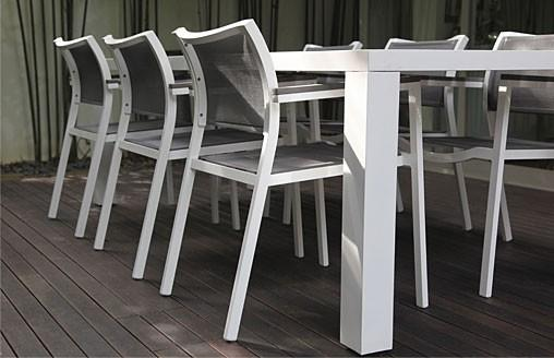 Jati Outdoor Furniture > Metal + Batyline > Chairs