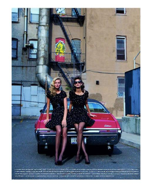 ... things lovely: Toni Garrn & Kendra Spears by Theo Wenner {Vogue Paris February'12}