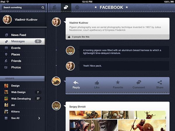 Pandora UI Free for iOS - User Interface Pack - DesignModo