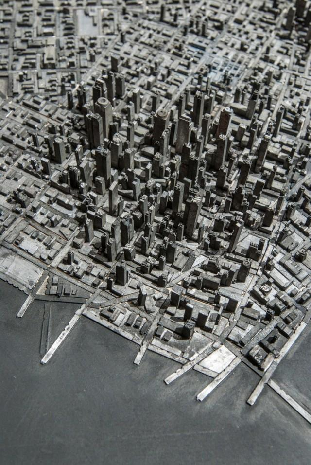 A Miniature City Built with Metal Typography | Colossal