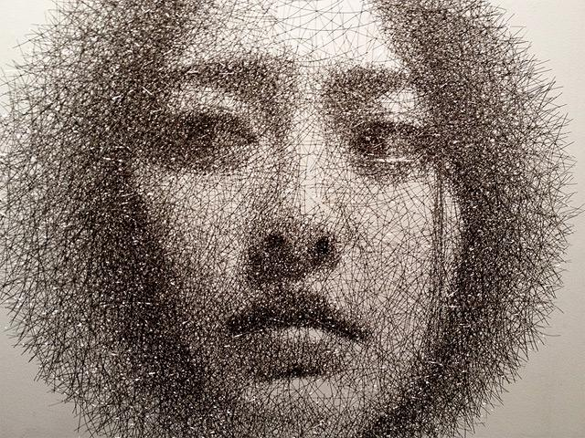 Ephemeral Portraits Cut from Layers of Wire Mesh by Seung Mo Park | Colossal