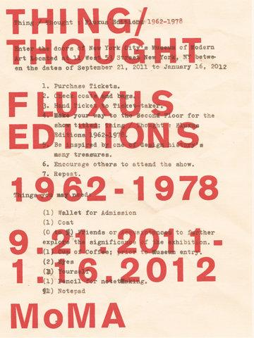 Fluxus Editions Poster - B. Grand Design