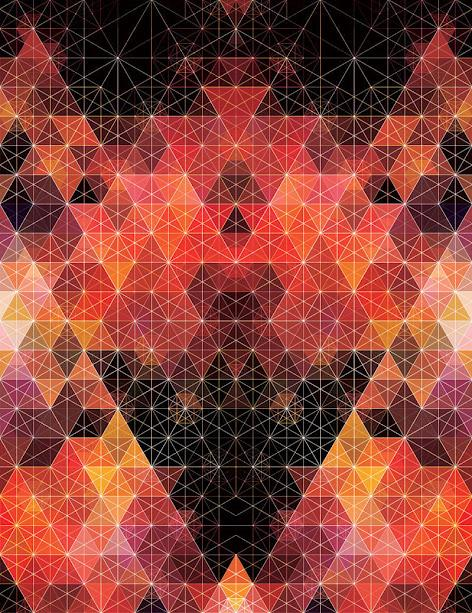 Kaleidoscopic and Hypnotic Geometric Compositions by Andy Gilmore | inspirationfeed.com