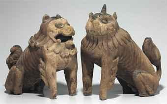 a_pair_of_carved_wood_guardian_dogs_kamakura_period_d5416290h.jpg (340×213)