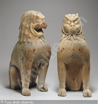 Résultats Google Recherche d'images correspondant à http://www.artvalue.fr/photos/auction/0/46/46070/periode-kamakura-1185-1333-jap-guardian-lion-dogs-koma-inu-2-2274880-500-500-2274880.jpg