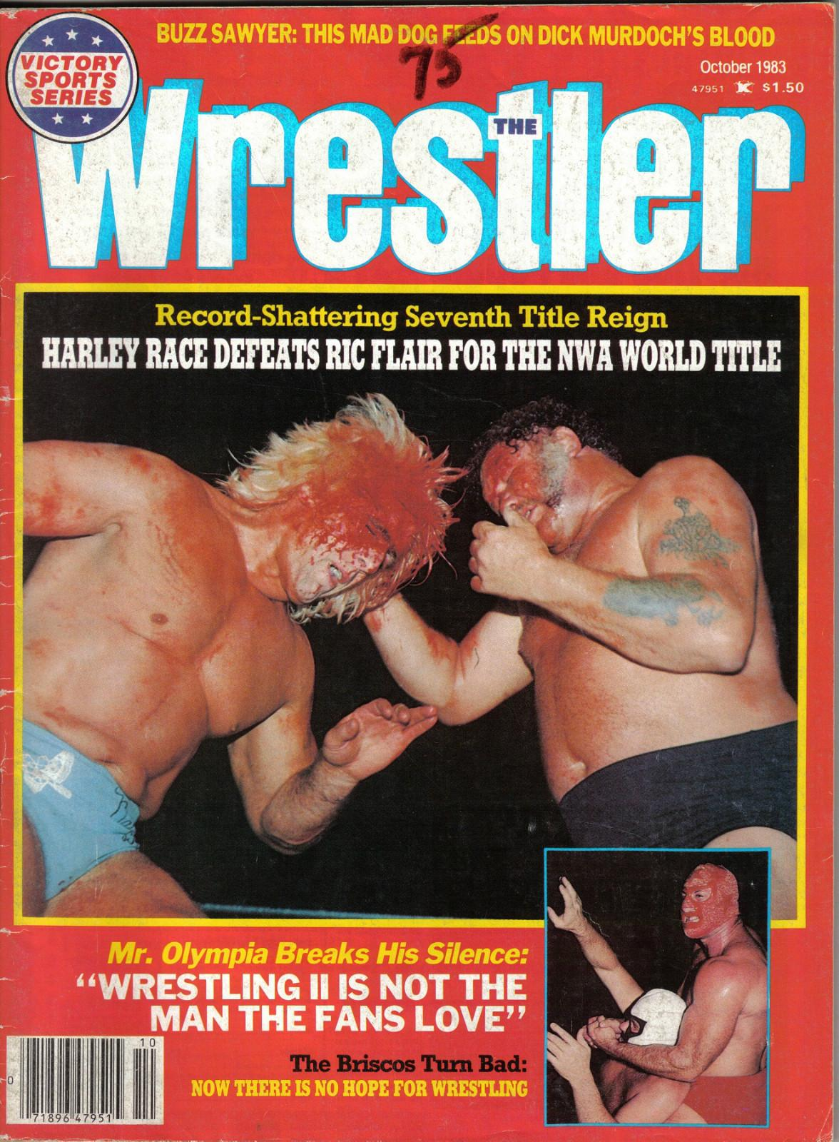 The Wrestler Wrestling Magazine October 1983 Harley Race Ric Flair wwe wwf wcw | eBay