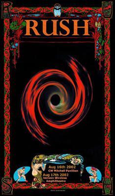 Rush * CW Mitchell Pavillion 2002 * Bob Masse signed poster | eBay
