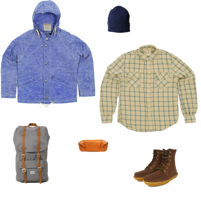Nigel Cabourn Aircraft Jacket | Levi's Vintage Shorthorn Checked Shirt | Quoddy Grizzly Boot | Herschel Supply Co. Little America Mountain Bag | Norse Projects Fenland Beanie | Tanner Goods Spactacle Case discount sale voucher promotion code | fashionstealer