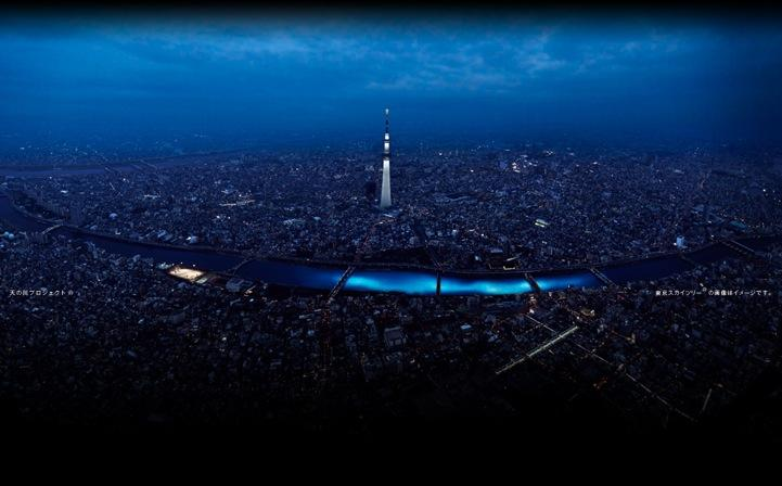 100,000 LED Lights Illuminate a Japanese River - My Modern Metropolis