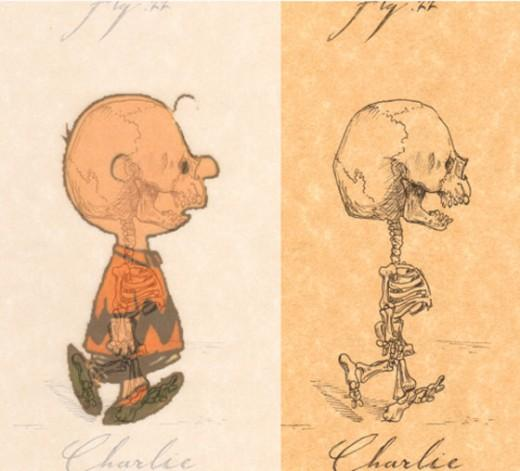 Skeletons of Cartoon Characters | Retronaut