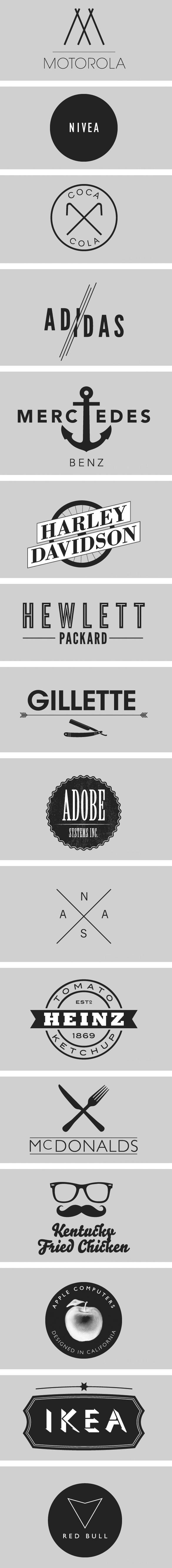 Graphisme & interactivité blog par Geoffrey Dorne » Décryptez le logos à la mode «hipster» !