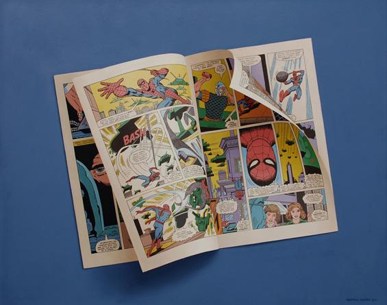 Sharon Moody's Photorealist Comic Book Paintings « Beautiful/Decay Artist & Design