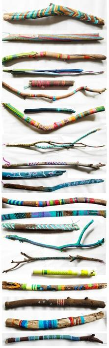collections / Painted sticks by Molly Anne.