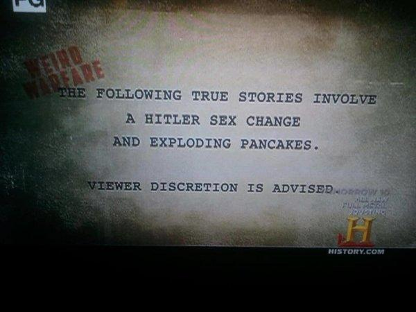 Ridiculous History Channel Disclaimer - CollegeHumor Picture