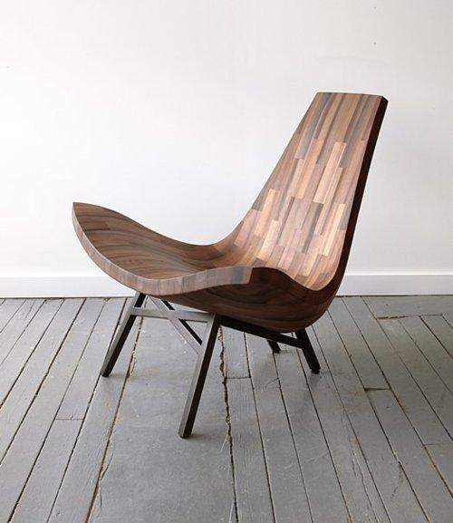 Water Tower Chair A wooden lounge chair, designed... | WE AND THE COLOR - A Blog for Graphic Design and Art Inspiration