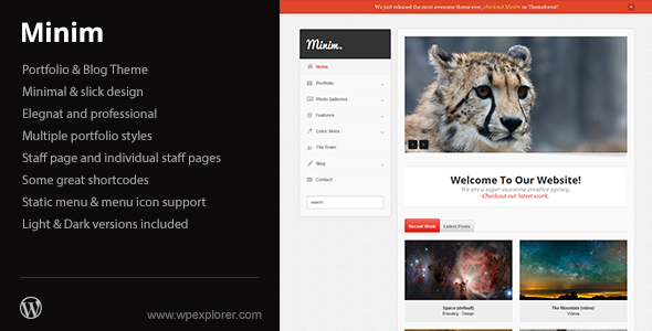 WordPress - Minim - Portfolio/Small Business WordPress Theme | ThemeForest