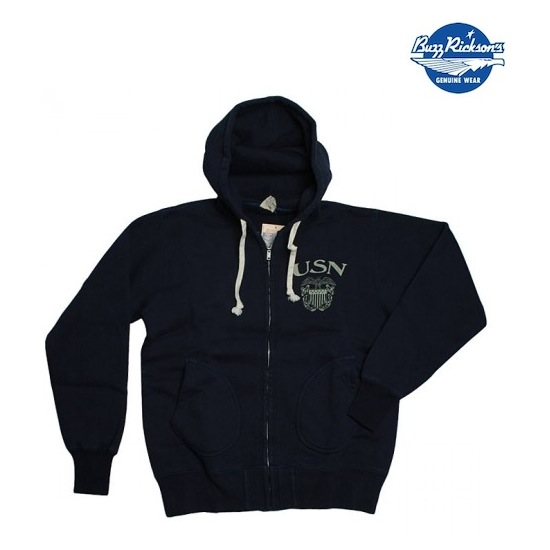 Buzz Rickson Hoodie Navy discount sale voucher promotion code | fashionstealer