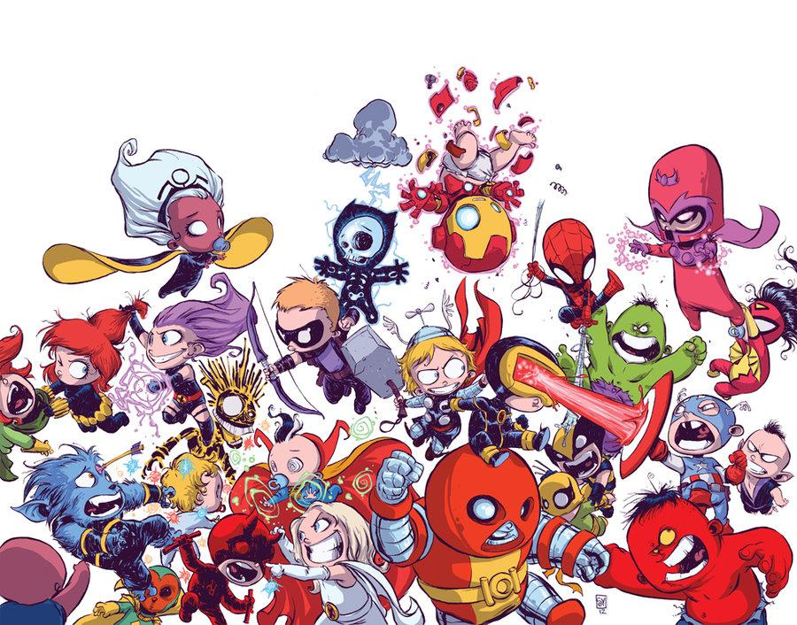 Avengers VS X-Men Babies by *skottieyoung