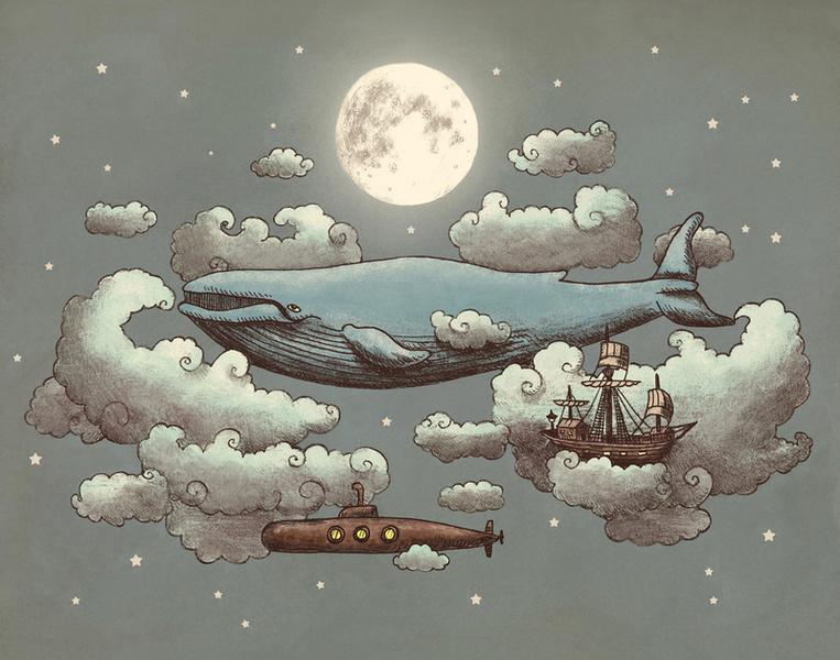 Ocean Meets Sky Art Print by Terry Fan | Society6