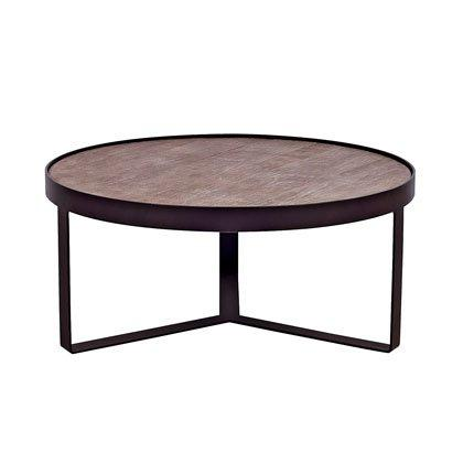 Table basse arnold blanc d ivoire marie claire maison for Table basse chene metal