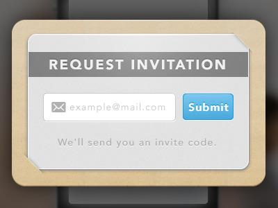 Invitation request form. by Takamasa Matsumoto