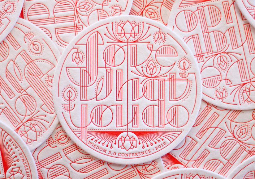 Permission to be Creative, Wisdom 2.0 Conference, Letterpress Coaster