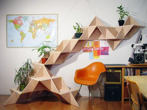 T.SHELF: J1studio's triangular shelf modular — Lost At E Minor: For creative people