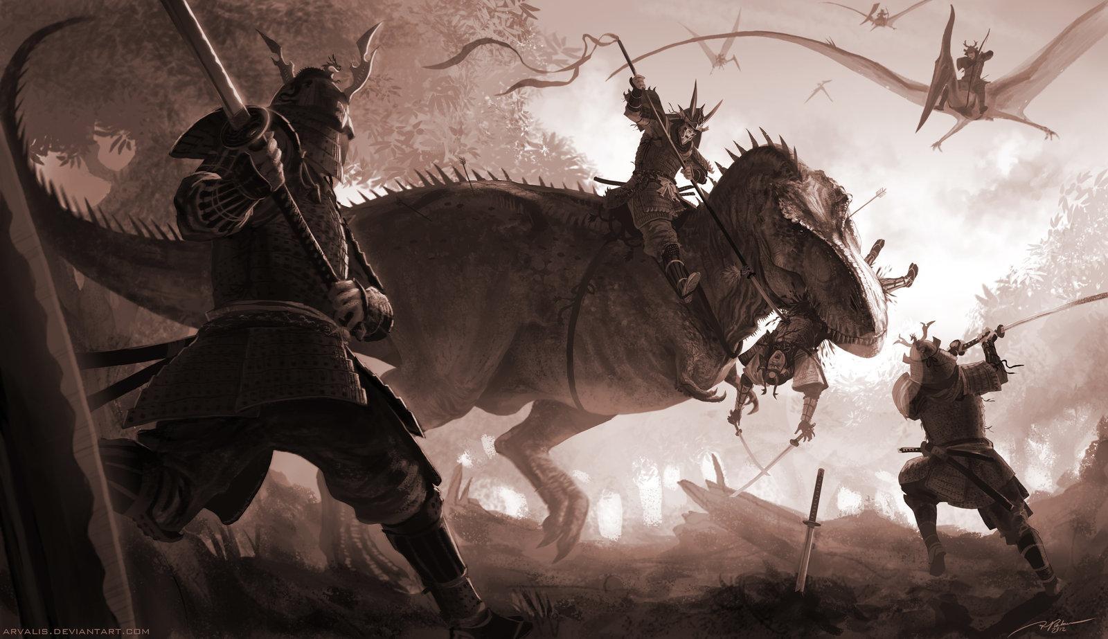 T-Rex vs Samurai par ARVALIS =