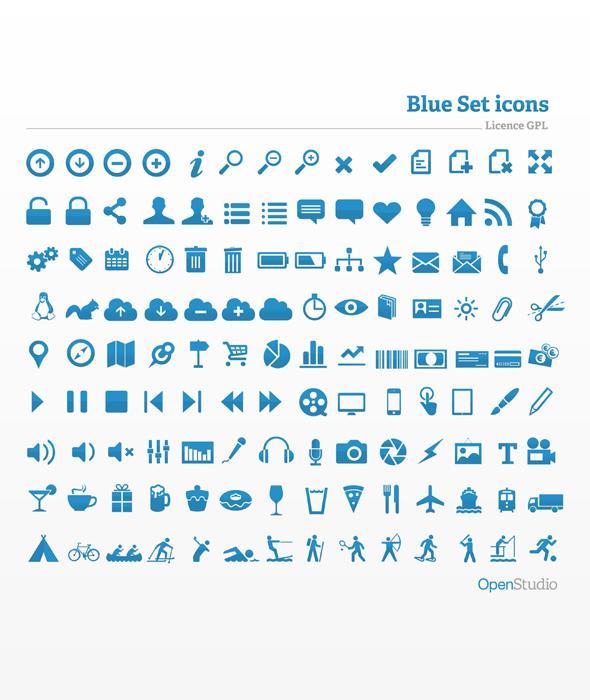 Blue Icon Set - Icon Deposit
