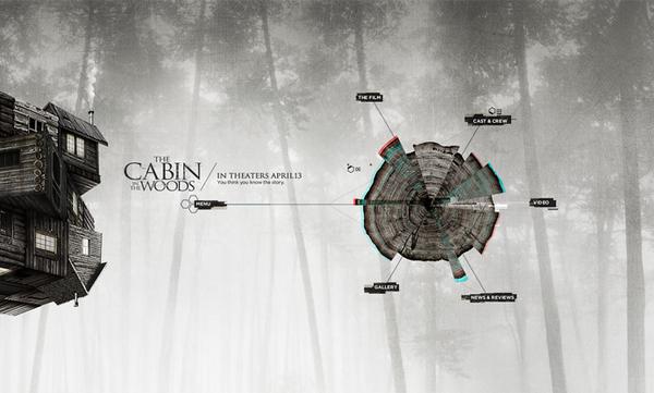 Découvrez la cabane dans les bois sur la conception Web Servi