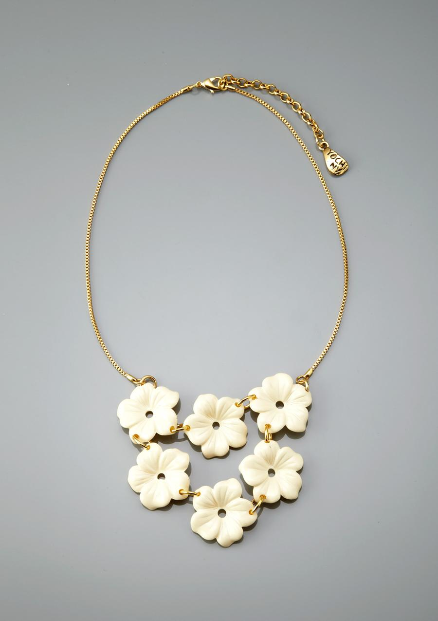 ideeli | YOCHI Flower Bib Necklace