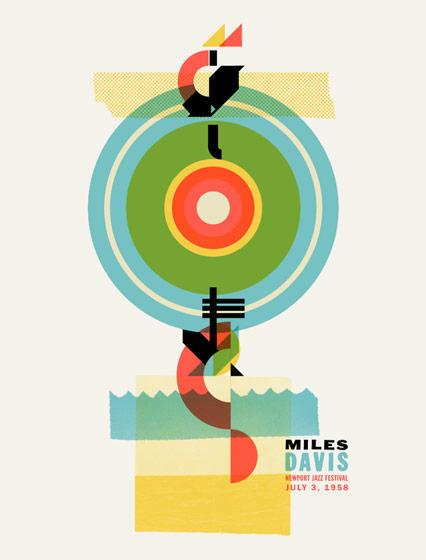 Warner Bros. Records Art Shows - Welcome Miles Davis by Dan Ibarra