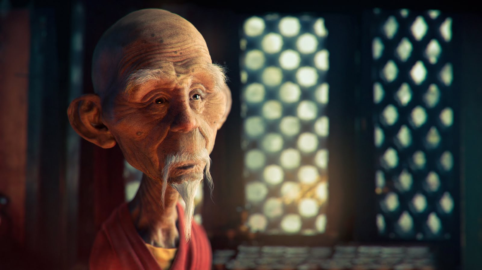 3D Art: Monk!!! - 3D, Concept art, Photoshop, Portrait
