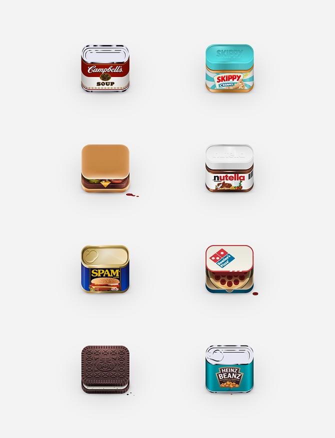 Food App Icons - Julian Burford