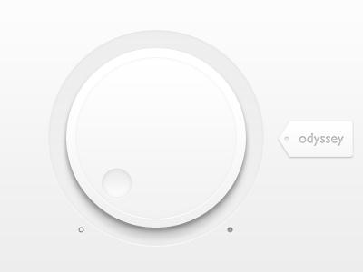 Designspiration — Dribbble - Clean Volume User Interface Dial by Norm