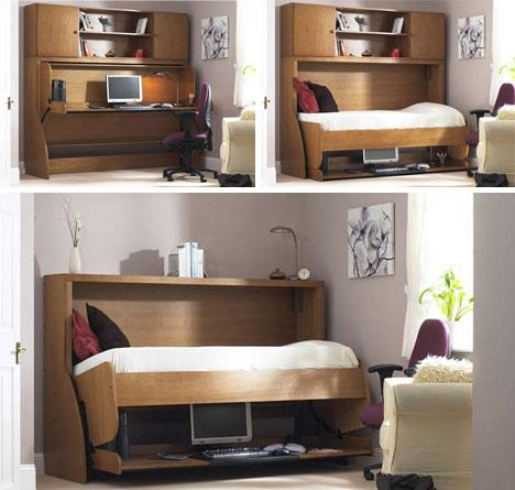 Clutter Covers: Fold-Out Hide-a-Beds Conceal Messy Desks | Designs & Ideas on Dornob