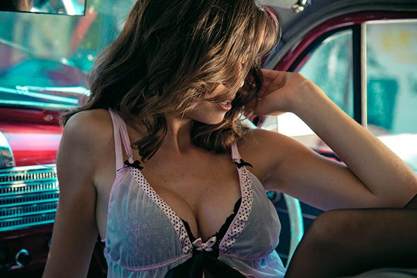 Lingerie campaign on Fashion Served