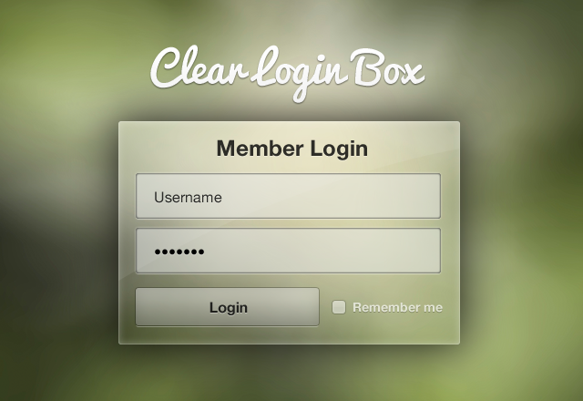 Clear Login Window Template | MediaLoot