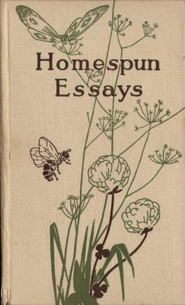 Volume Cover: Homespun Essays | PhotoSeed