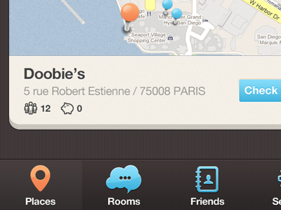 New iPhone app design | Map UI,UX interface by Julien Renvoye