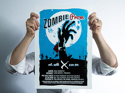 Zombie Poster by Anthony Lagoon