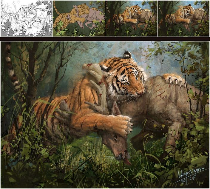 Siberia tiger predation by dafei - CGHUB
