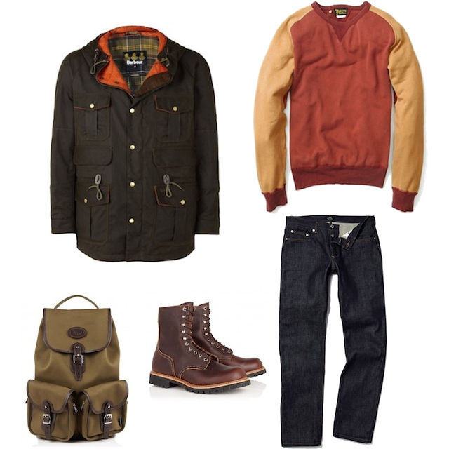 Barbour Waxed Parka APC New Standard Levis Vintage Clothing Sweat Red Wing Boots | fashionstealer