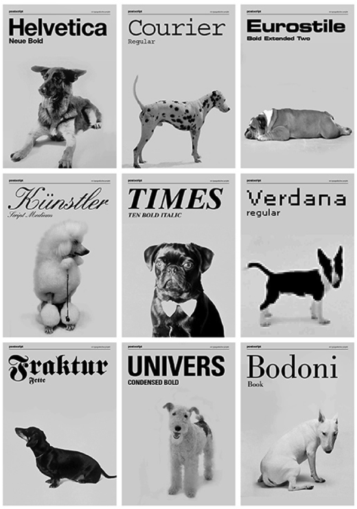 Dogs as Typefaces | iGNANT