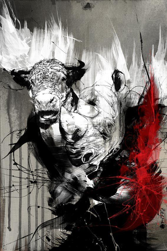 20 Excellent Abstract Illustrations by Russ Mills   inspirationfeed.com