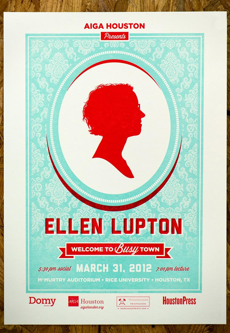 FPO: AIGA Houston Ellen Lupton Poster